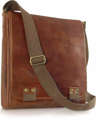 Chiarugi Handmade Brown Genuine Leather Crossbody Bag