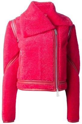 Fendi cropped biker jacket