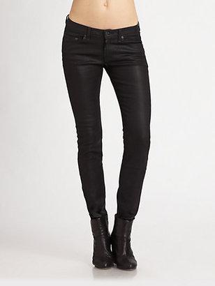 Rag and Bone The Skinny Jeans/Coated Black
