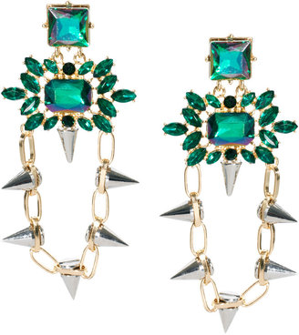 Asos Spike Link Gem Drop Earring