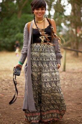 Tolani Elephant Print Maxi Skirt