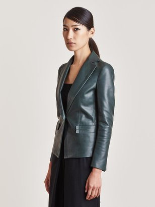 Yang Li Women's Leather Blazer