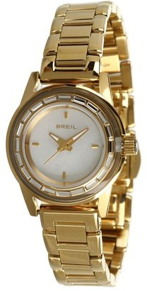 Breil Milano TW1157 Swarovski Crystal Gold-Tone Stainless Steel Watch (Gold) - Jewelry
