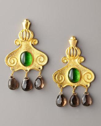 Stephanie Anne Gold-Plated Cupola Drop Earrings