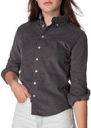 American Apparel Unisex Corduroy Long Sleeve Button-Down