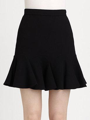 Carven Double Crepe Flounce Skirt