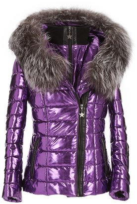 Popski London Aspen Metallic Jacket - Purple