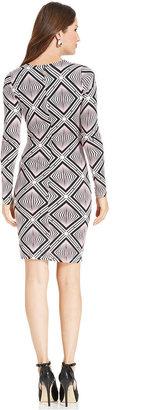Karen Kane Dress, Long-Sleeve Printed