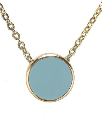 American Apparel Baby Blue Circle Necklace