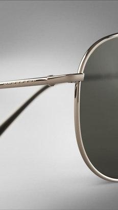 Burberry Brit Rhythm Foldable Aviator Sunglasses