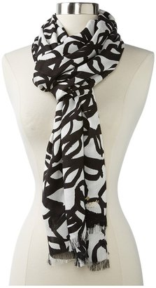 Kate Spade Literary Glasses Scarf (Clotted Cream/Black Glasses) - Accessories
