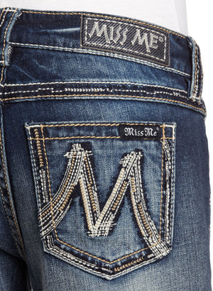 Miss Me Heavy-Stitch Boot-Cut Jeans, Daisy