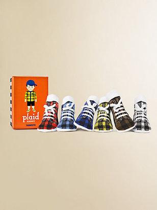 Trumpette Infant's (12-24mo) Six-Piece Johnny Plaid Sock Set