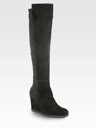 Stuart Weitzman Demiswoon Over-The-Knee Wedge Boots