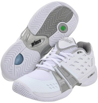 Prince T24 (White/Silver) - Footwear