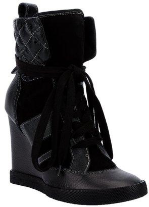 Chloé High-Top Wedge Sneakers