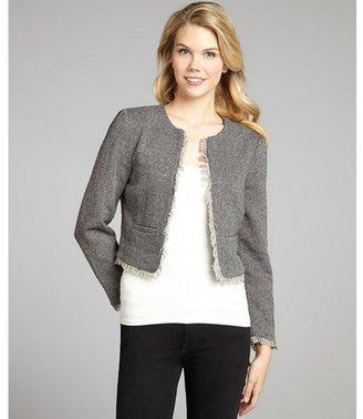 Walter black and grey wool-blend birdseye tweed 'Elizabeth' jacket