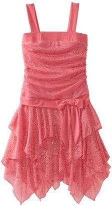 Amy Byer Girls 7-16 Glitter Daisy Sleeveless Hanky Dress