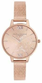 Olivia Burton Stainless Steel Speckled Watch