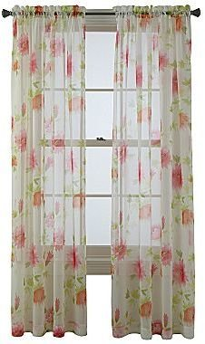 "JCPenney Queen Street Chloe Rod-Pocket 84"" Sheer Curtain Panel"