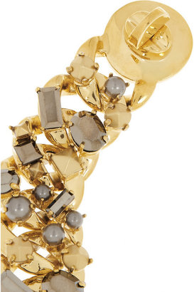 Marc by Marc Jacobs Katie gold-tone, crystal and faux pearl bracelet