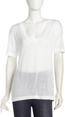James Perse Short-Sleeve V-Neck Tee, White