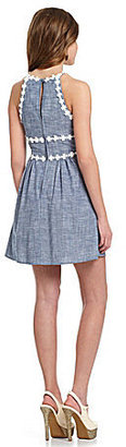 B. Darlin Halter Chambray Dress