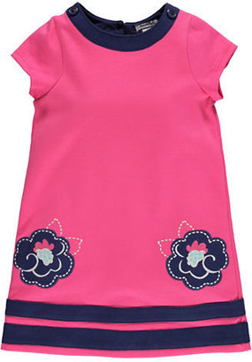 Hartstrings Girls 2-6x Knit Ponte Dress with Floral Accents
