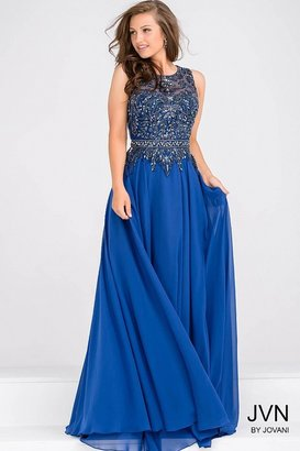 Jovani Sleeveless Beaded Bodice Dress JVN47898
