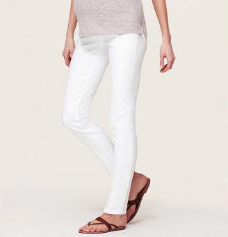 LOFT Maternity Skinny Jeans in White