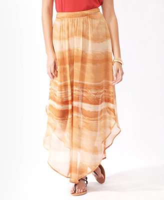 Forever 21 Love 21 Abstract Asymmetrical High-Low Skirt
