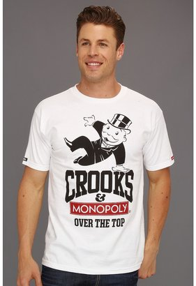 Crooks & Castles Crooks x Monopoly Over The Top Tee (White) - Apparel