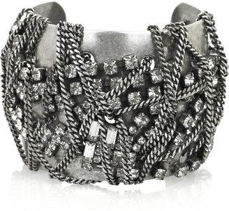Dannijo Sparo silver plated Swarovski cuff