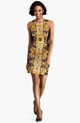 Donna Morgan Print Cutaway Sheath Dress