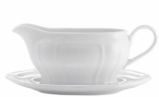 Mikasa Dinnerware, Antique White Gravy Boat with Tray