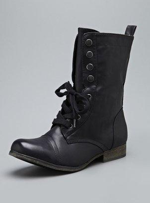 Mia Rugged Tie & Snap Low Heel Boot