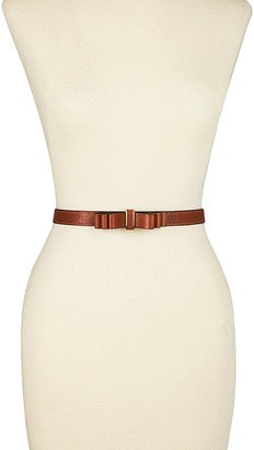 Betsey Johnson Skinny Belt With Front Bow