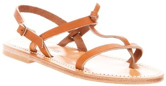 K. Jacques 'Violetta Naturel' sandal