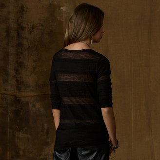 Denim & Supply Ralph Lauren Stretch-Lace Scoopneck Henley
