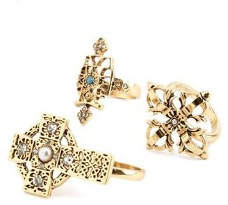Charlotte Russe Double Cross Ring Set