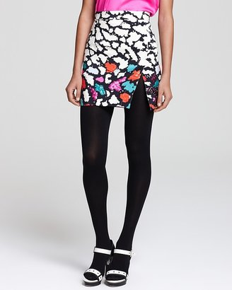 Nanette Lepore Skirt - Oolong Printed & Sequin Embellished