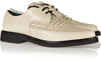 Marc by Marc Jacobs Studded leather and suede creepers