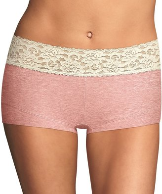 Maidenform Women's Cotton Dream Lace-Trim Boyshorts 40859