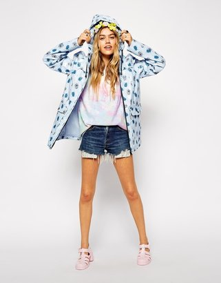 Asos Rain Mac With Bug Print