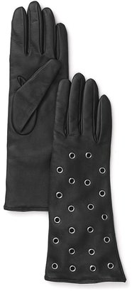 URBAN RESEARCH Bloomingdale & #039;s Grommet Accented Leather Gloves