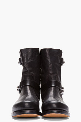 Rag and Bone RAG & BONE Black Leather Moto Boots