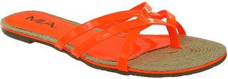 Mia Shoes, Preta Thong Sandals