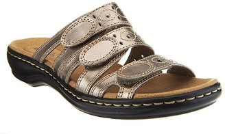Clarks Collection Leather - Strap Slides - Leisa Cacti