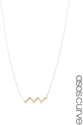 Asos Zig Zag Necklace - Gold