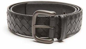 Bottega Veneta Intrecciato Leather 4cm Belt - Mens - Black